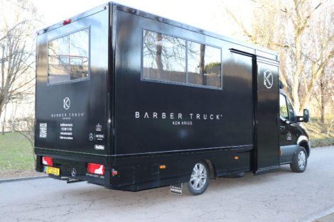 Ken Kries Barber Truck
